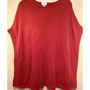 Red Old Navy Winged Sleeve Sweater